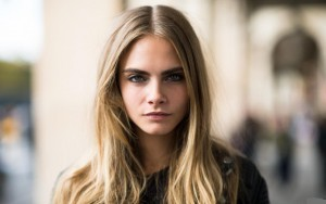 Cute blonde Cara Delevingne High quality wallpaper