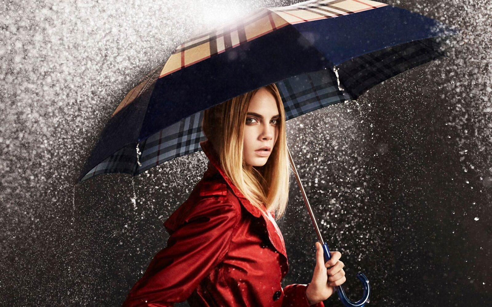Free download picture Cara Delevingne with umbrella
