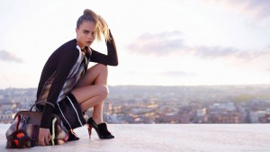 Cute model Cara Delevingne with a stylish handbag wallpaper 1080p