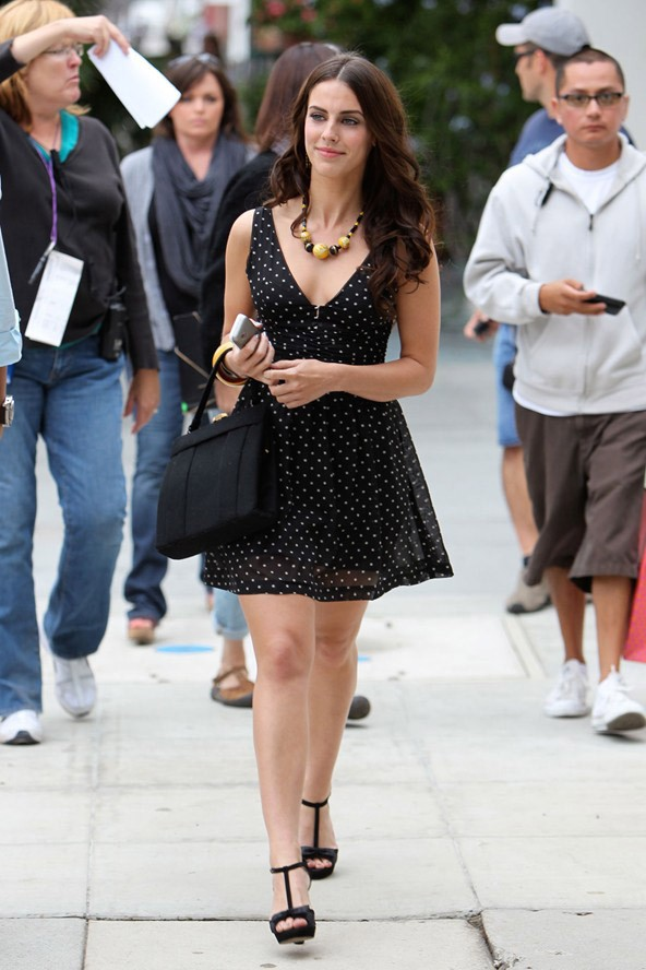 Photo Jessica Lowndes style in a black short dress