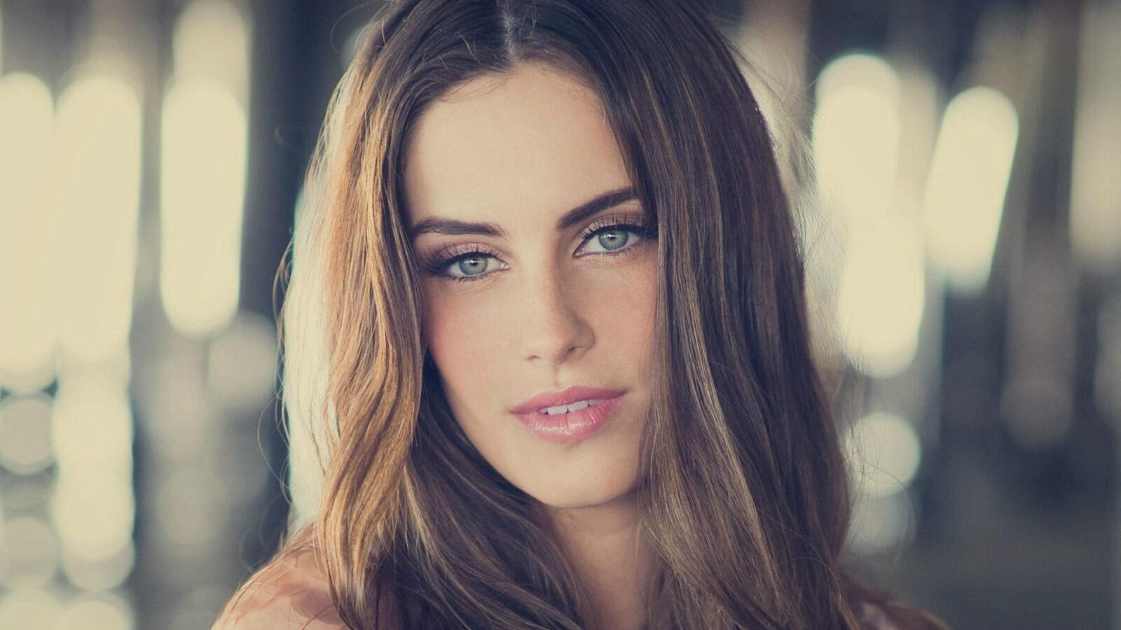 1080p Wallpaper Jessica Lowndes face, lips, eyes