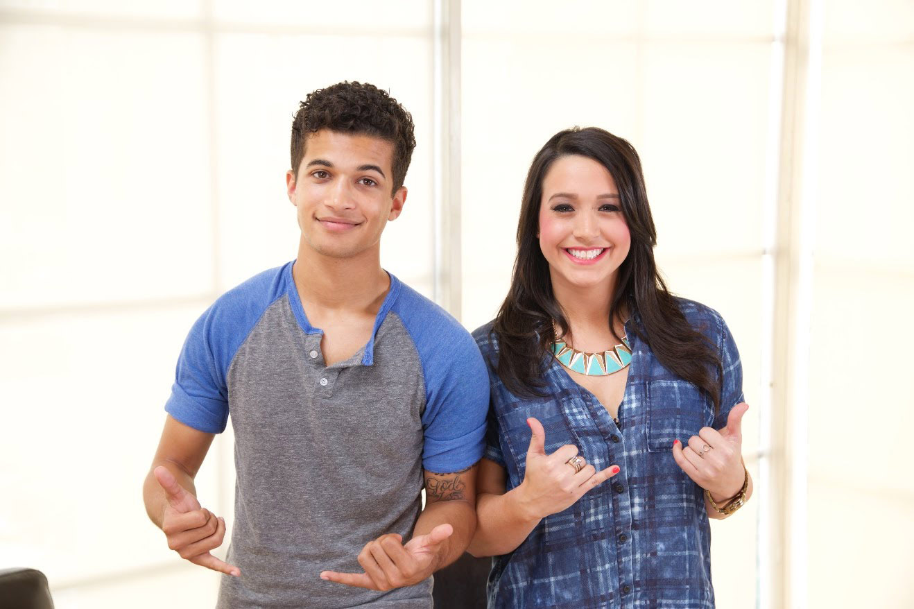 Cute Jordan Fisher with girl hd background
