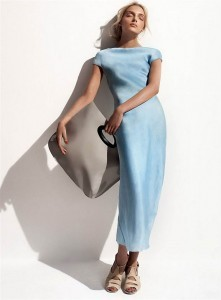 Lily Donaldson blue dress