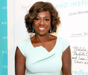 Viola Davis white dress image