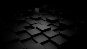 Wallpaper 3d cubes black abstract