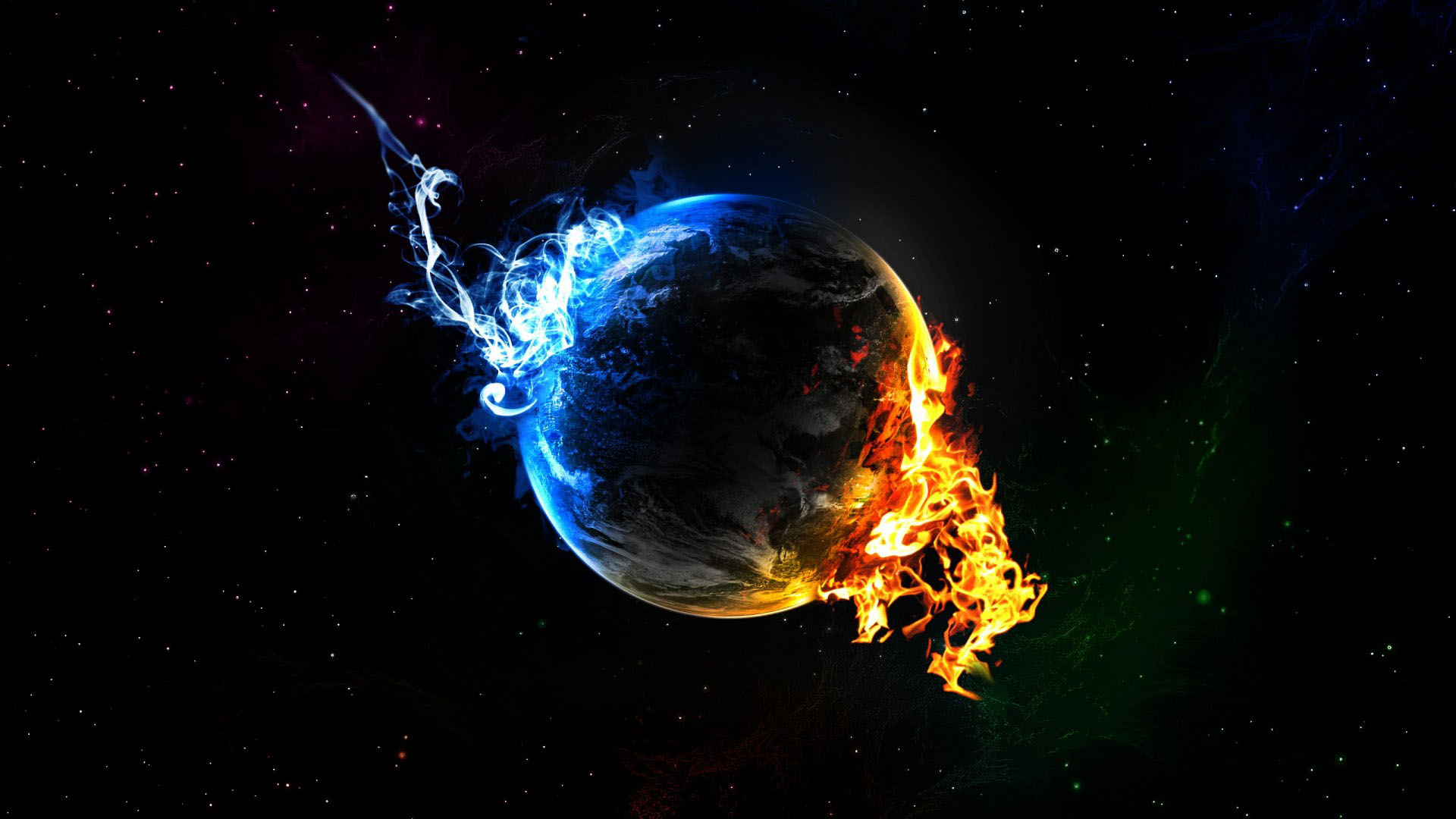 earth fire and cold black abstract for android