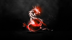 Red Dragon black abstract high definition wallpaper 1080p