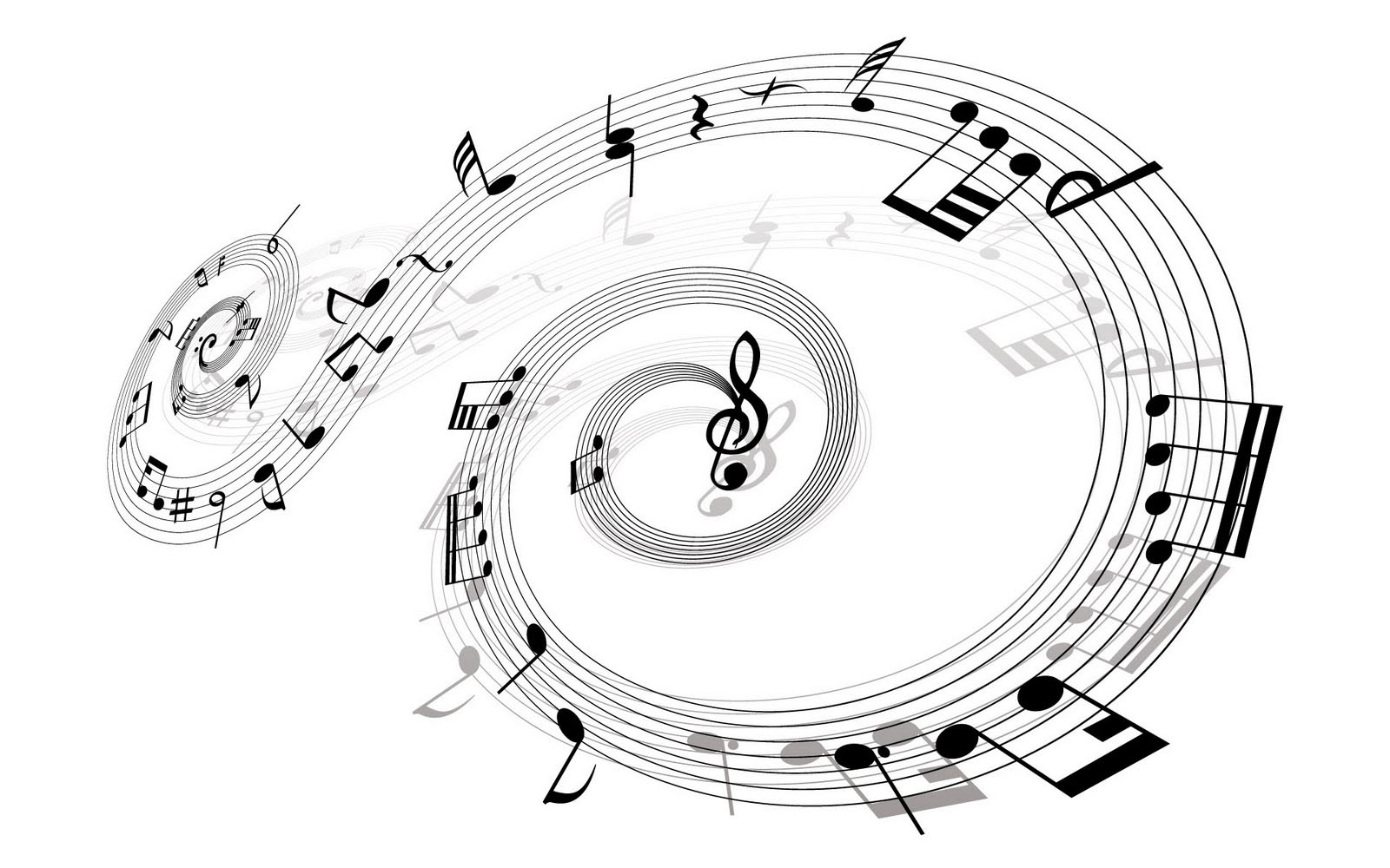 musical notes white abstract