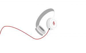 beats headphones white abstract picture