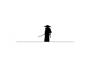 vector samurai white abstract minimalism HD desktop background