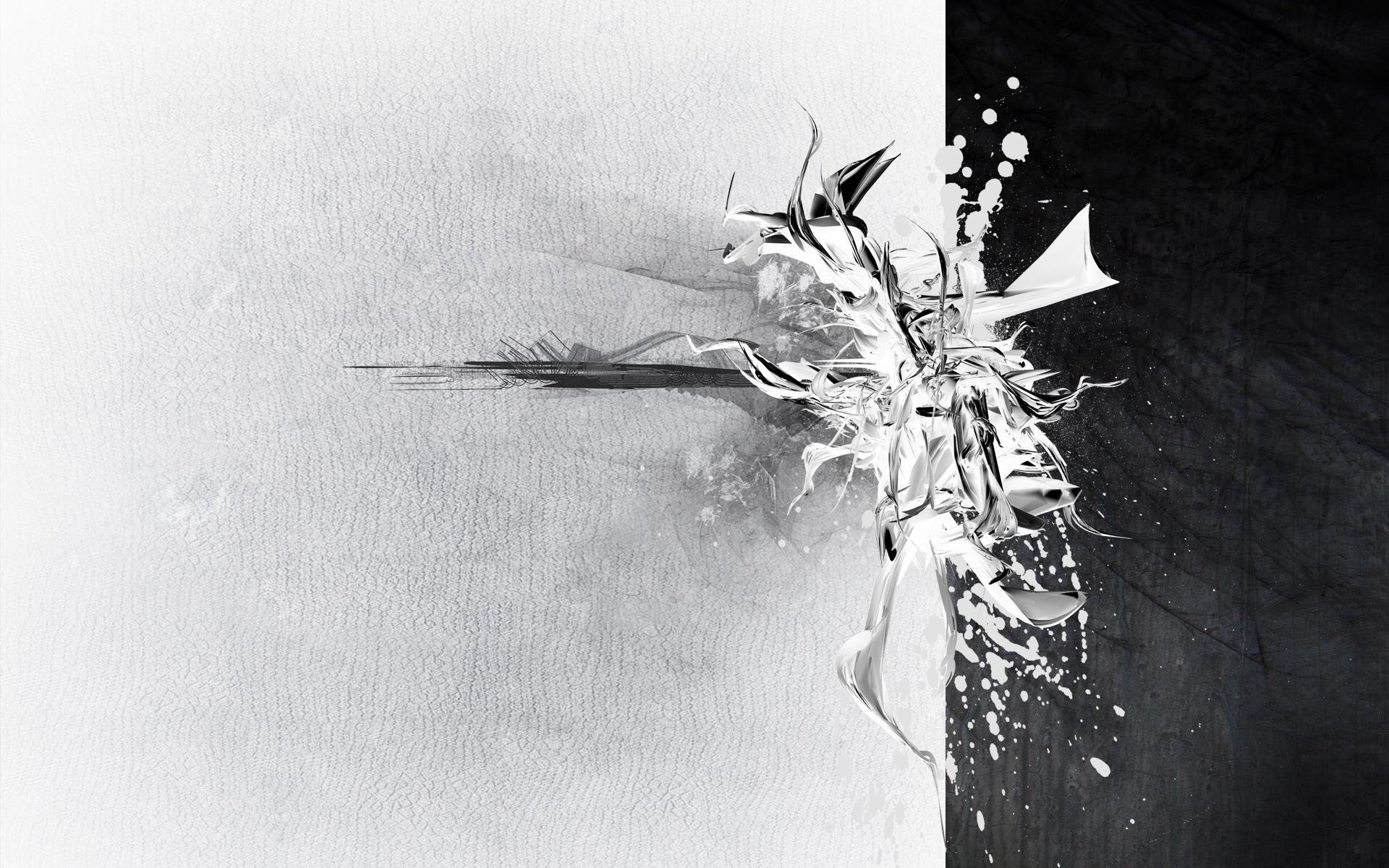 Black and white abstract High definition wallpaper