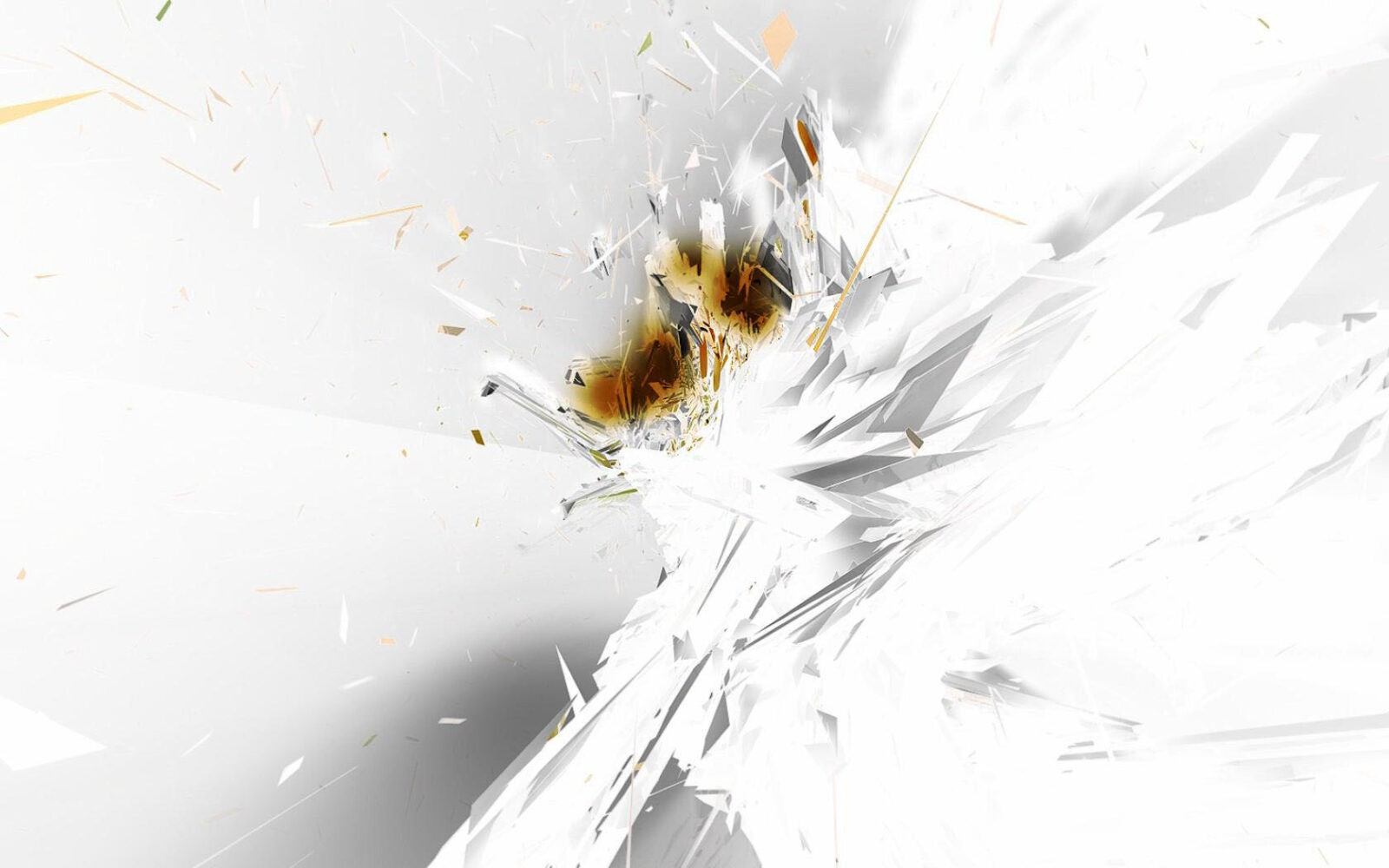 splashes and lines white abstract