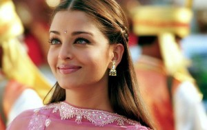 Young Aishwarya Rai Bachchan Indian style background