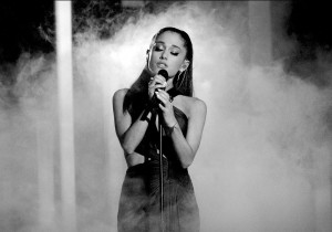 Ariana Grande black and white