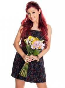 Ariana Grande with flowers