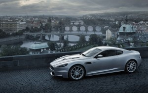 Wallpaper of Aston Martin db9 old city