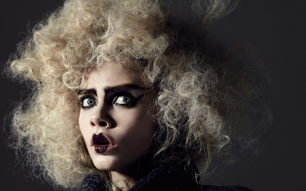 Wallpaper Cara Delevingne curly hairstyle