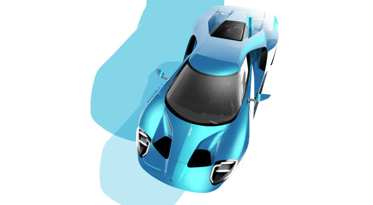 Ford GT 2016 white background