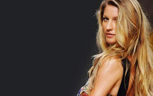 Gisele Bundchen black background