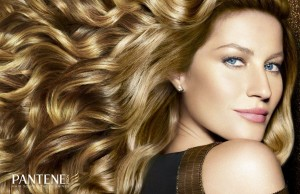 Curly hair Gisele Bundchen for Pantene