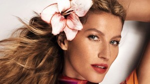 Face Gisele Bundchen wallpaper with flower