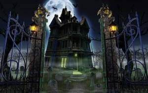 Castle Helloween high definition wallpaper