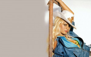 Picture of Karolina Kurkova cowboy hat