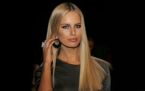 Karolina Kurkova Black background