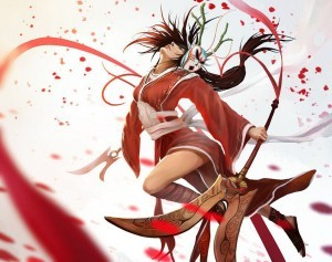 League of Legends Akali iPhone wallpaper