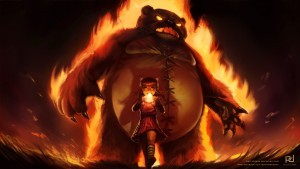 League of Legends Annie fire bear background