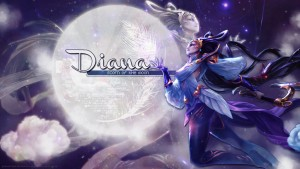 League of Legends Diana background
