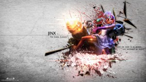 League of Legends Jinx widescreen wallpaper