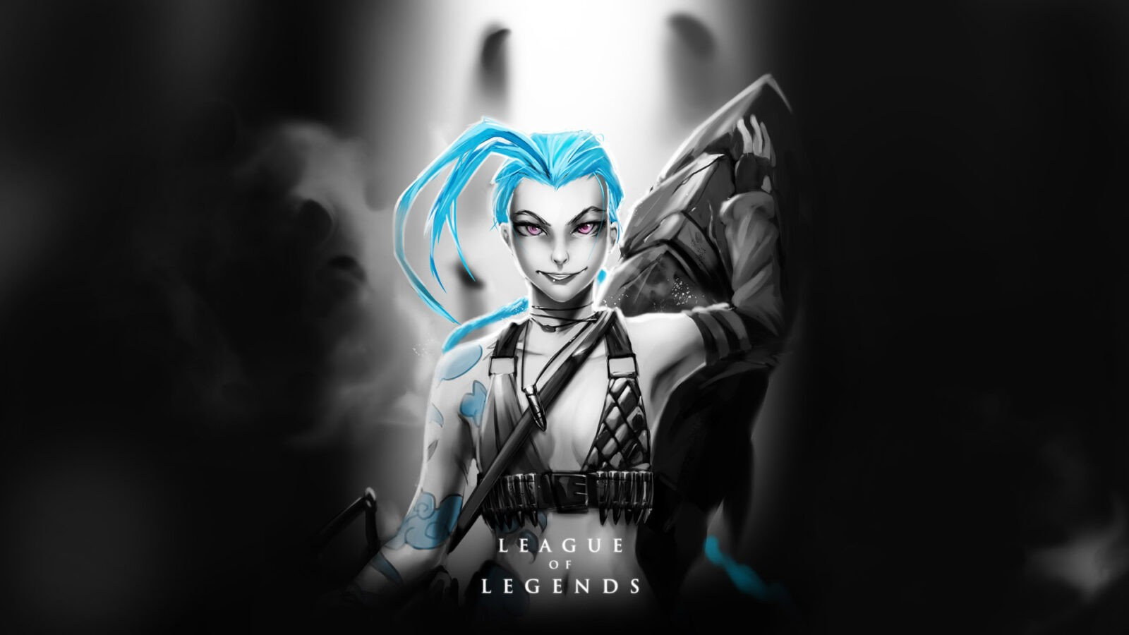 League of Legends Jinx dark HD