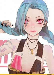 League of Legends Jinx white background