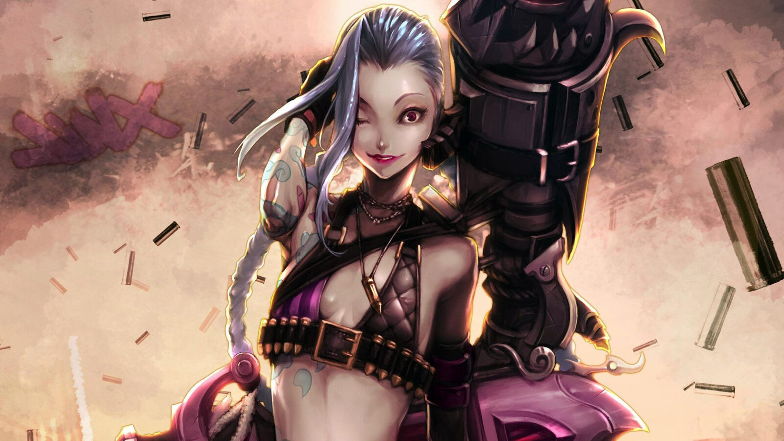 League of Legends Jinx full HD desktop images