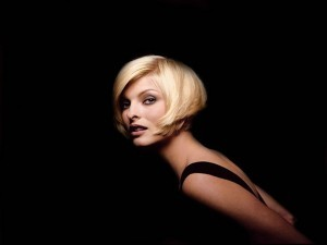 Linda Evangelista black background