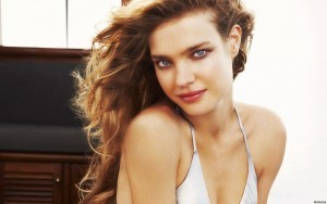 Romantic Natalia Vodianova HD desktop wallpaper