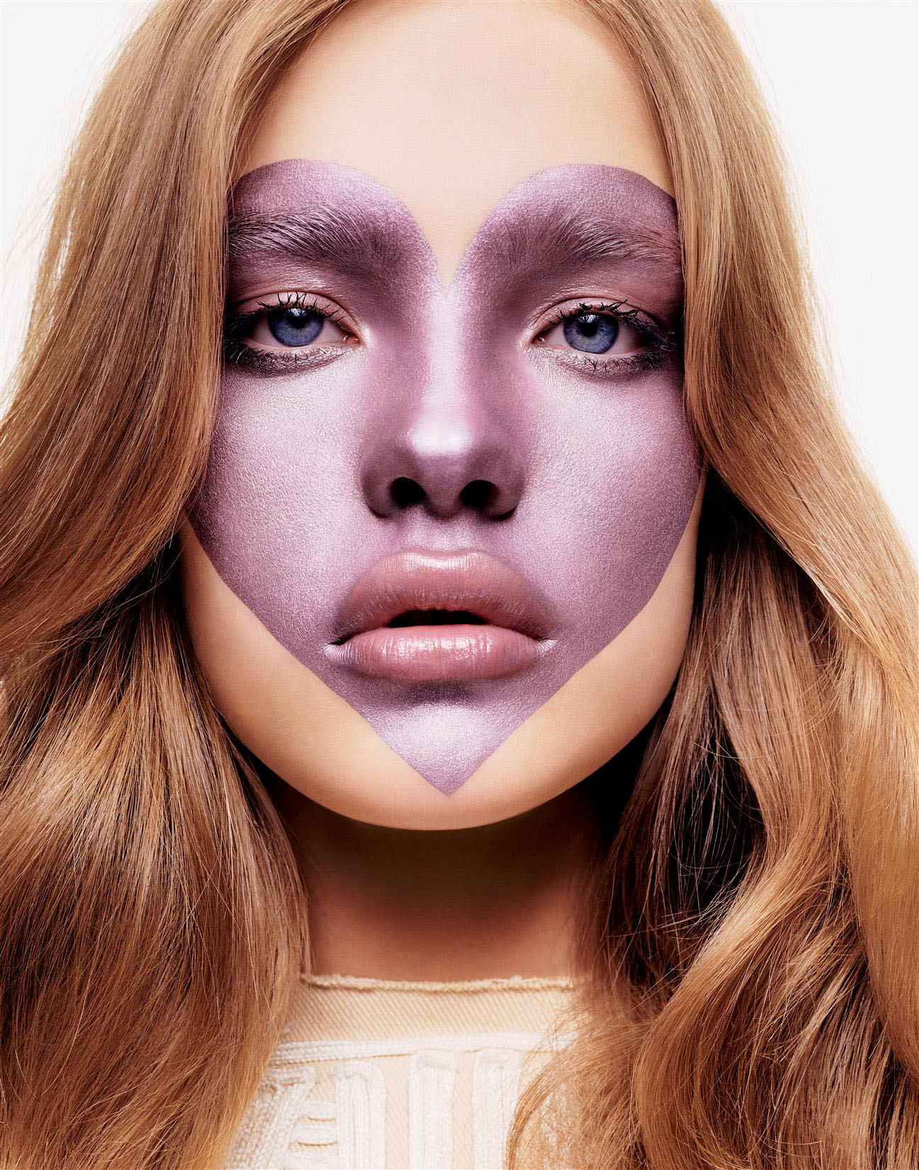 """Makeup """"heart on face"""" by Natalia Vodianova vertical image"""