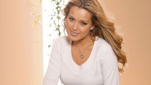 Tender Petra Nemcova wallpaper in the white sweater