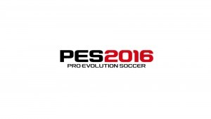 Logotype Pro Evolution Soccer 2016 wallpaper white background