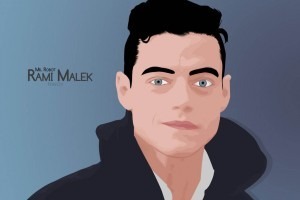 Rami Malek art wallpaper