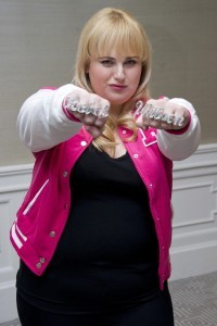 Rebel Wilson fists