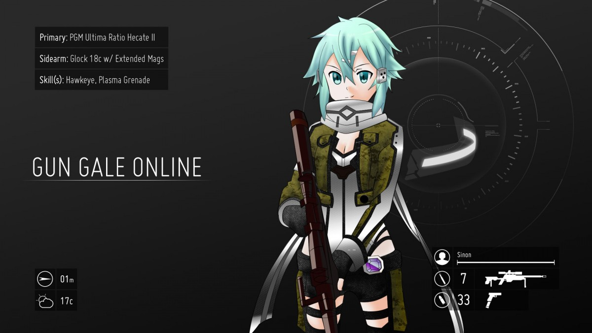 GGO Sinon SAO 2 wallpaper