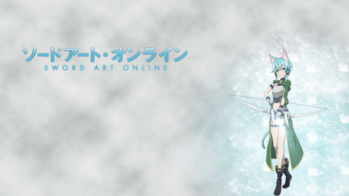Wallpaper Sinon with bow from SAO