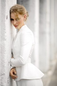 Svetlana Khodchenkova in white costume for Android device