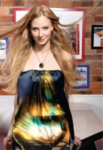 Wallpaper Svetlana Khodchenkova in dress for iPhone device