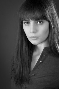 Black and white Yuliya Snigir Russian actress