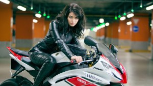 HD wallpaper Yuliya Snigir on the motorbike 1080p