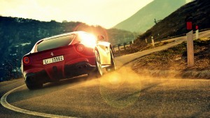 ferrari f12 berlinetta rear background