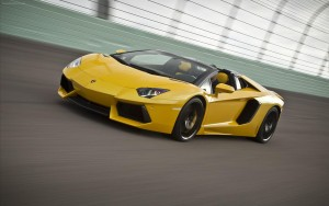 green yellow Lamborghini Aventador free download